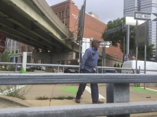 Walking thru the city!