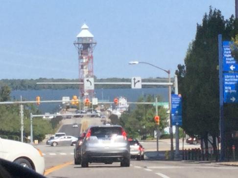 Driving across Erie!