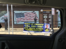 Very patriotic to have a lawyer advertisement next to the American flag!