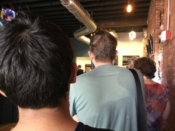 Still waiting in line!