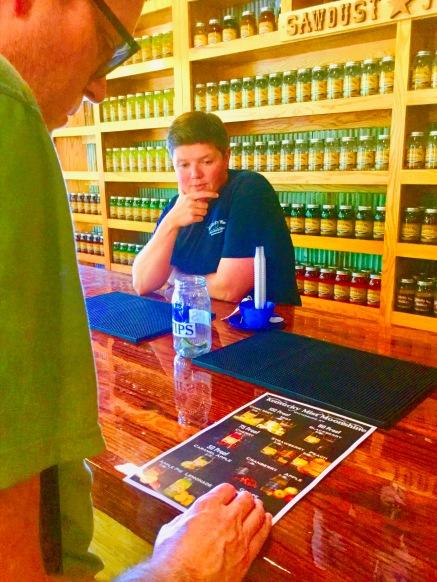 """""""Which moonshine should I taste?""""--Dad"""