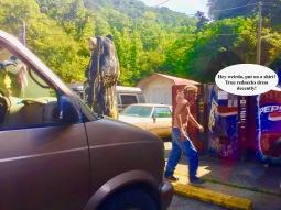 A hazardous dude with no shirt?!?
