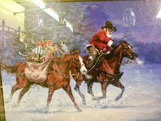 Santa Claus is a cowboy!!!