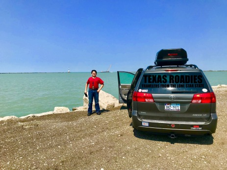 Texas Roadies along Lake Erie!