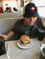 """I got my burger, coke, and blog device (the iPad)!""--Julian"