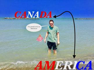A patriot along the border!