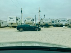 What the dunk is a fancy car doing in a RV park in rural West Texas?!?