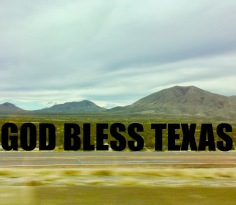GOD BLESS TEXAS!