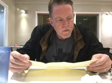 Reading the menu!