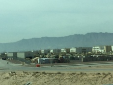 A zoom in of the military base!