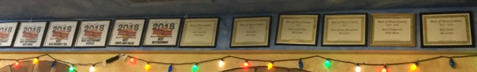 The many awards!