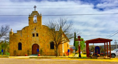This Catholic Church looks a lot like the Alamo!
