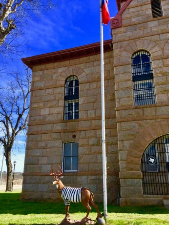 What a dunking deer next to the dunking jail!!