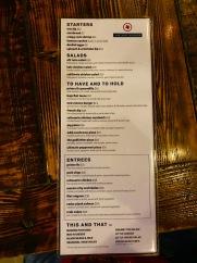 The menu!
