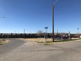 A playground next to a border wall! What a experience!