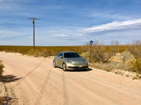 On the New Mexico-Texas border!