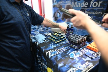 Who the deenk would sell glass cleaners at a gun convention???
