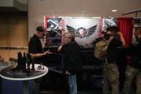 At a gun stand!