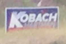 Kris Kobach governor sign!