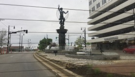 The Missouri side! Cool statue!