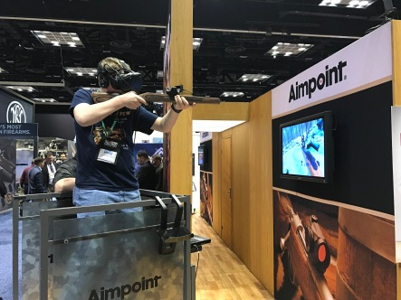 Now that looks super fun! Virtual reality with guns!!
