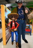 """I met with the Mexican Giant, the giant who has some type of huge jealousy over my superior height!""--The Texas Giant"