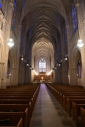 The inside of Duke Chapel.