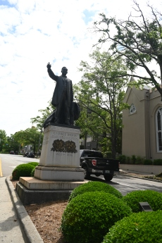 The front of the George Davis Monument