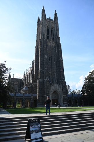 The gothic architecture of Duke Chapel is fantastic.